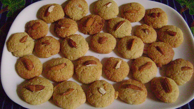 almond whole wheat cookies