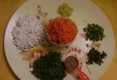 carrot roti ingredients