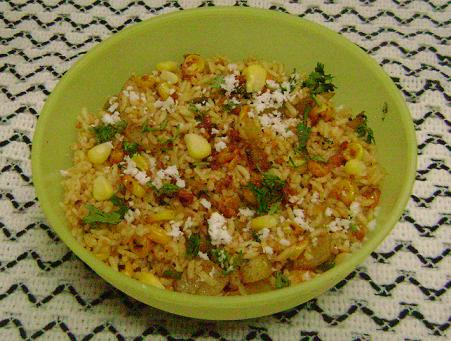 corn aloo rice