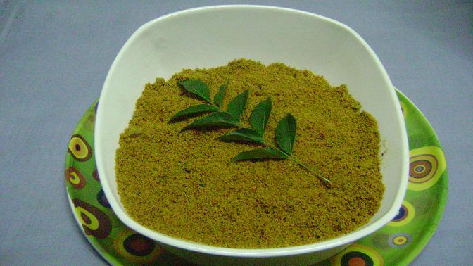 curry leaves karibevu soppu chutney pudi