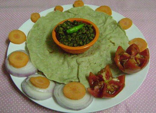 jolada roti with veggie