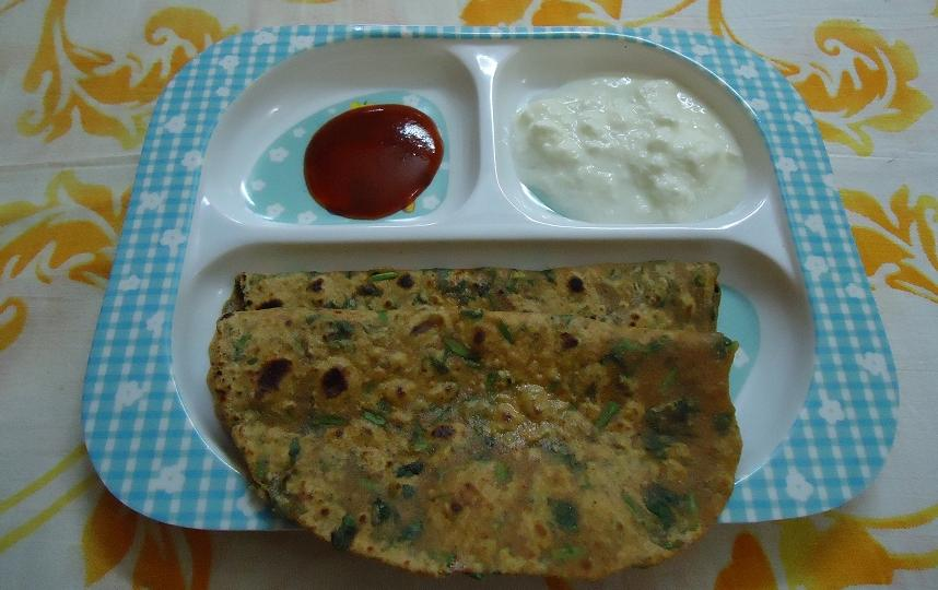 methi leaves parata