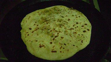 sprouted green gram parata
